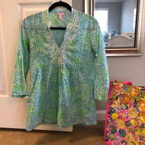 Lilly Pulitzer Sarasota Cotton Tunic - Get Crackin